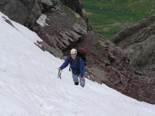 Climbing the Northwest Couloir