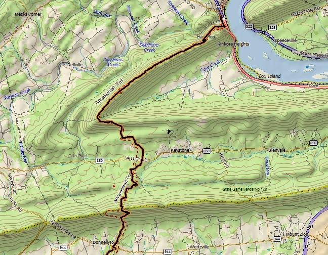 6/23/13: Appalachian Trail Section Hike: Cove Mountain, PA