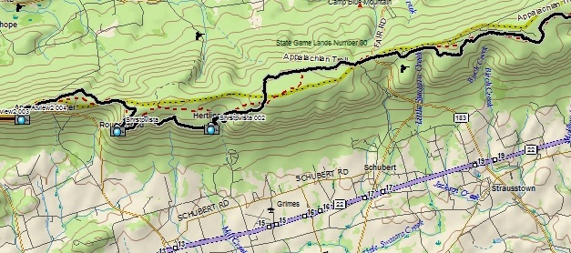 7/19/14: Appalachian Trail Section Hike: PA SGL 80